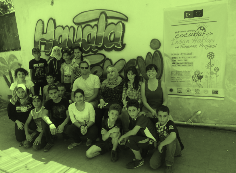 Çocuklar için İnsan Hakları ve Sinema Projesi Hatay'da Mülteci Çocuklarla Buluşuyor!