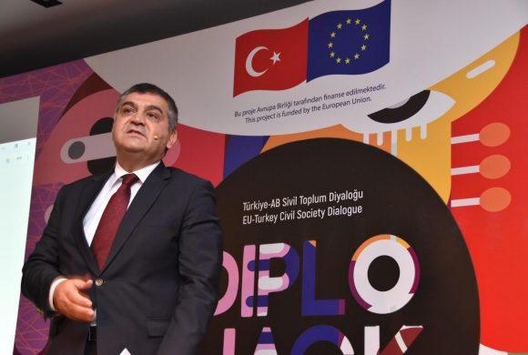 Dışişleri Bakan Yarımcısı AB Başkanı Faruk Kaymakcı Türkiye-AB Sivil Toplum Diyaloğu Diplohack Etkinliğinin açılışına katıldı
