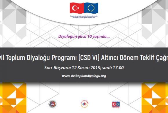 Sivil Toplum Diyaloğu Altıncı Dönem Hibe Programı (CSD VI) Teklif Çağrısı